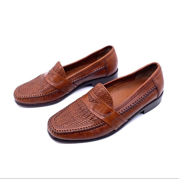 Bostonian Woven Leather Loafers Dress Shoes